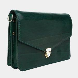 Деловая зеленая женская сумка на пояс ATS-3175 213351