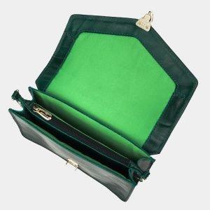 Деловая зеленая женская сумка на пояс ATS-3175 213353