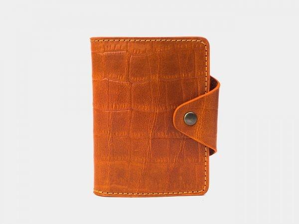 Деловая оранжевая визитница ATS-3176