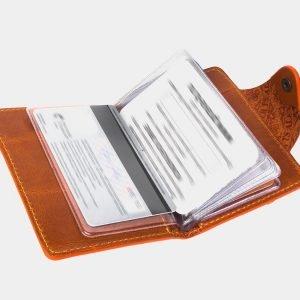 Деловая оранжевая визитница ATS-3176 213345