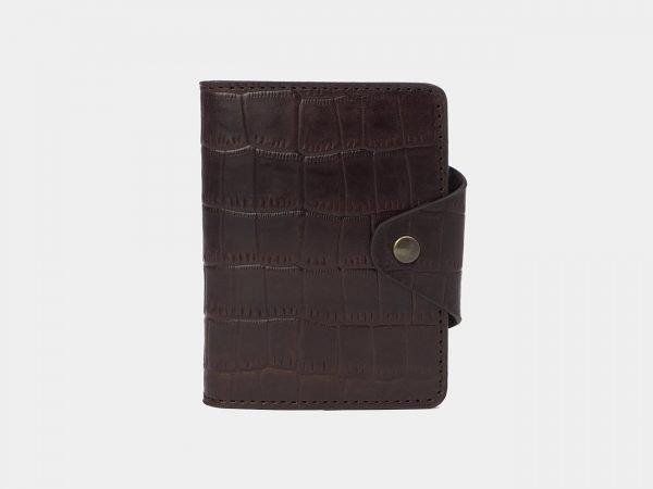 Уникальная коричневая визитница ATS-3177