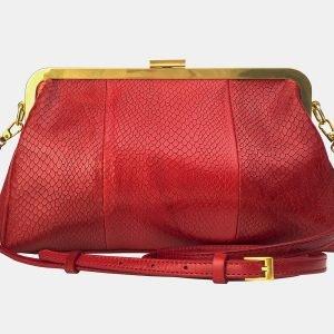 Вместительный красный женский клатч ATS-3197