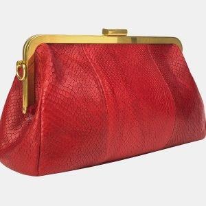 Вместительный красный женский клатч ATS-3197 213300