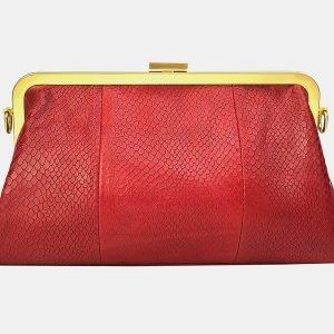 Вместительный красный женский клатч ATS-3197 213301
