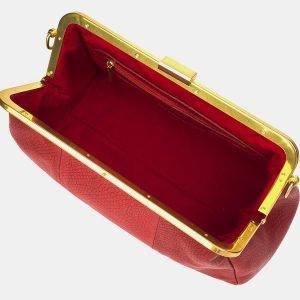 Вместительный красный женский клатч ATS-3197 213302