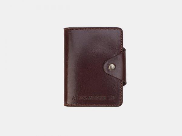 Уникальная светло-коричневая визитница ATS-3207