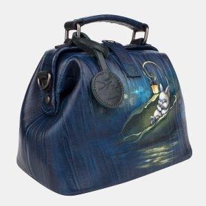 Неповторимая синяя сумка с росписью ATS-3232 213191