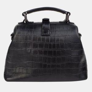 Функциональная черная сумка с росписью ATS-3234 213182