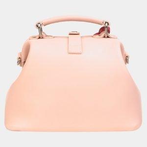 Кожаная розовая сумка с росписью ATS-3217