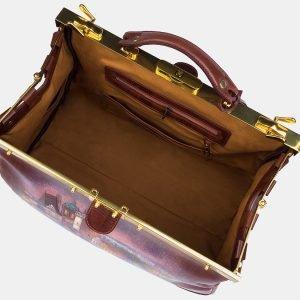 Неповторимый светло-коричневый саквояж с росписью ATS-3215 213252