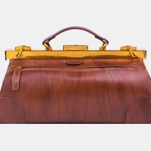 Стильный светло-коричневый саквояж с росписью ATS-3213 213261