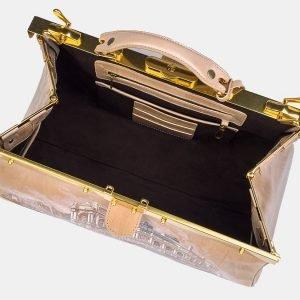 Функциональный бежевый саквояж с росписью ATS-3210 213277