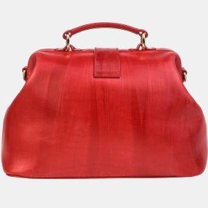 Деловая красная сумка с росписью ATS-3240 213152