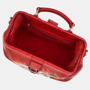 Деловая красная сумка с росписью ATS-3240 213153