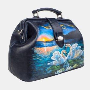 Функциональная синяя сумка с росписью ATS-3241 213146