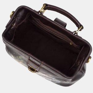 Функциональная коричневая сумка с росписью ATS-3243 213138