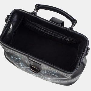 Модная черная сумка с росписью ATS-3242 213143