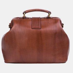Солидная светло-коричневая сумка с росписью ATS-3244