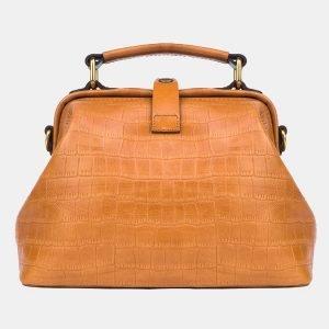 Солидная светло-жёлтая женская сумка ATS-3245