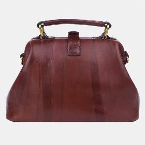 Кожаная светло-коричневая женская сумка ATS-3249 213122