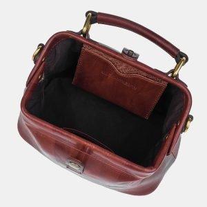 Кожаная светло-коричневая женская сумка ATS-3249 213123