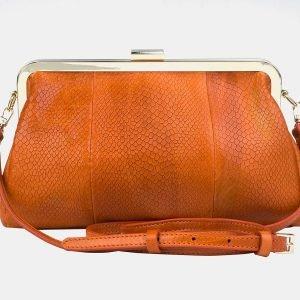 Функциональный оранжевый женский клатч ATS-3258