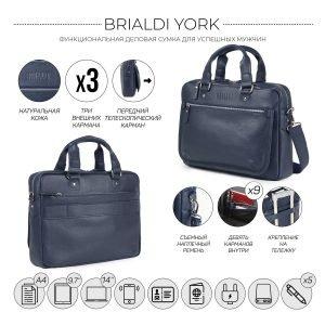 Функциональный синий мужской портфель деловой BRL-34108 223174