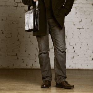 Удобная черная мужская сумка через плечо BRL-207 219861