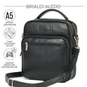 Деловая черная мужская сумка через плечо BRL-12934
