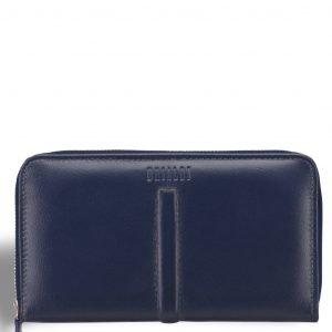 Кожаный синий мужской портмоне клатч BRL-19827
