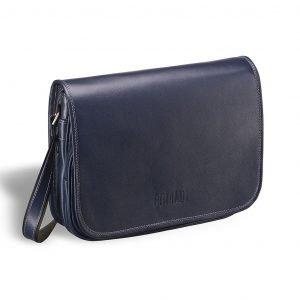 Удобная синяя мужская сумка через плечо BRL-7224