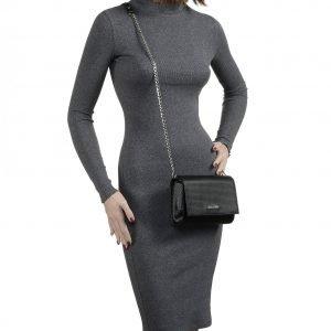 Вместительный черный женский клатч FBR-2093