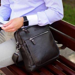 Стильная коричневая мужская сумка через плечо BRL-33395 222962