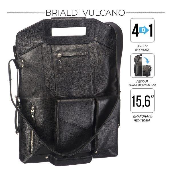 Уникальная черная мужская сумка трансформер через плечо BRL-28432