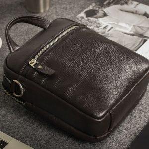 Неповторимая коричневая мужская сумка через плечо BRL-33398 223020