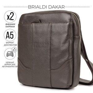 Неповторимая коричневая мужская сумка через плечо BRL-31462