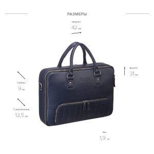 Удобная синяя мужская сумка трансформер через плечо BRL-23168 221929