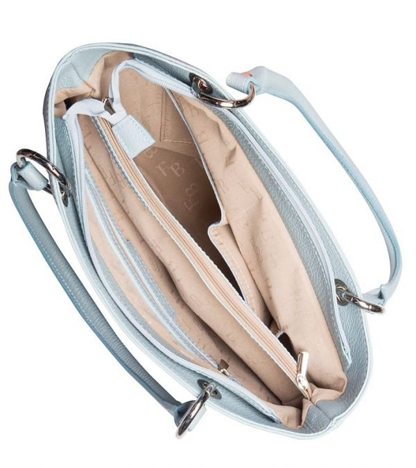 Функциональная голубая женская сумка FBR-1214