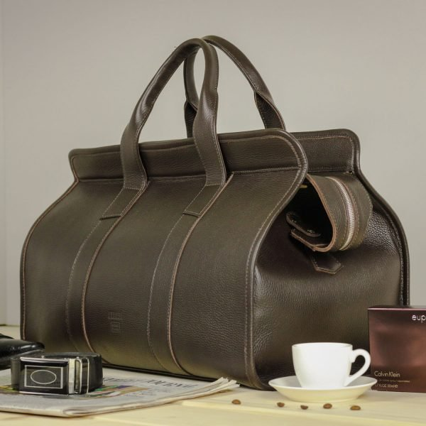 Уникальный коричневый дорожный саквояж BRL-30868