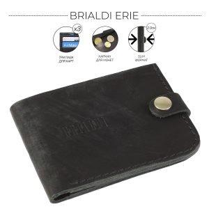 Уникальный черный мужской портмоне клатч BRL-7592