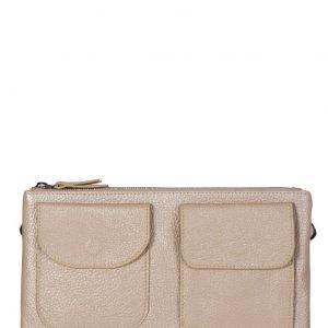 Функциональная бежевая женская сумка FBR-1102
