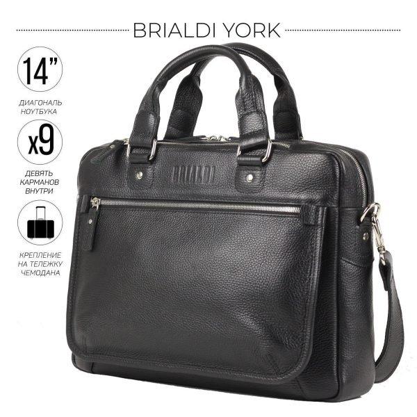 Вместительный черный мужской портфель деловой BRL-34102