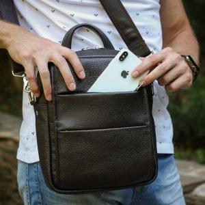 Модная коричневая мужская сумка через плечо BRL-34408 223394