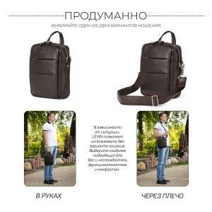 Модная коричневая мужская сумка через плечо BRL-34408 223401
