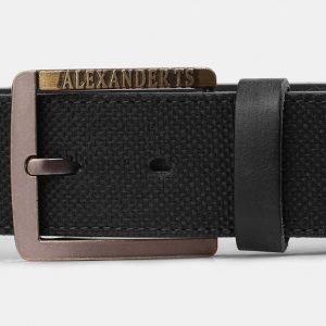 Уникальный черный мужской джинсовый ремень ATS-3940