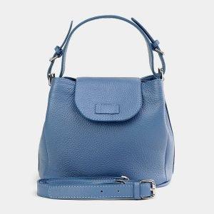 Стильная голубая женская сумка ATS-3741
