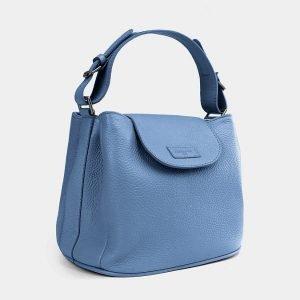 Стильная голубая женская сумка ATS-3741 211387