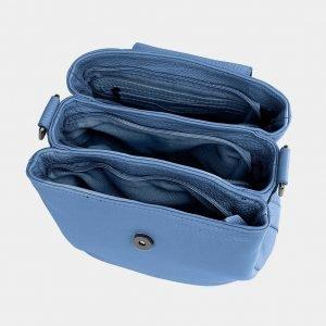 Стильная голубая женская сумка ATS-3741 211389