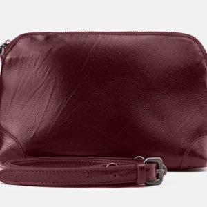 Функциональная бордовая женская сумка ATS-3877