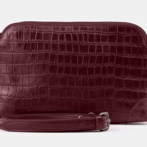 Неповторимая бордовая женская сумка ATS-3878
